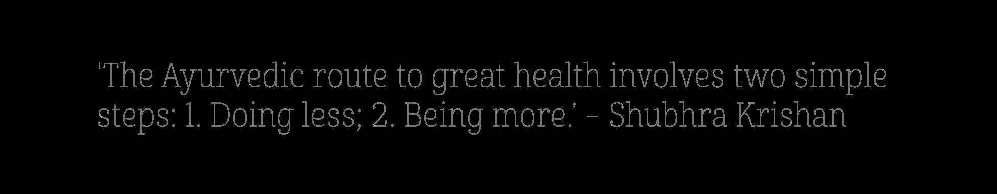 Ayurveda en gezondheid