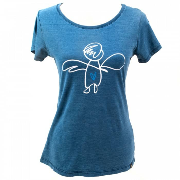 Yoga t-shirt Eco Vegan - Give your love wings