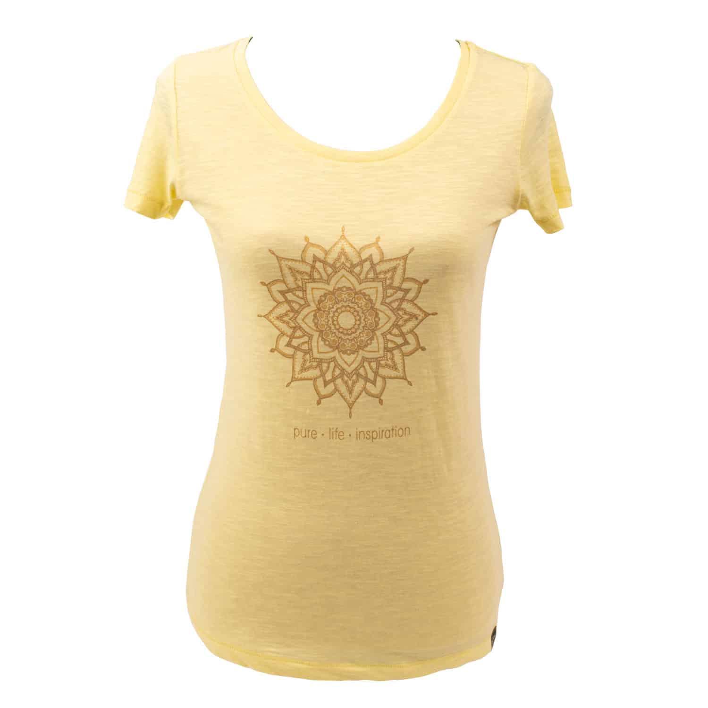 Yoga t-shirt Eco Vegan - Golden mandala