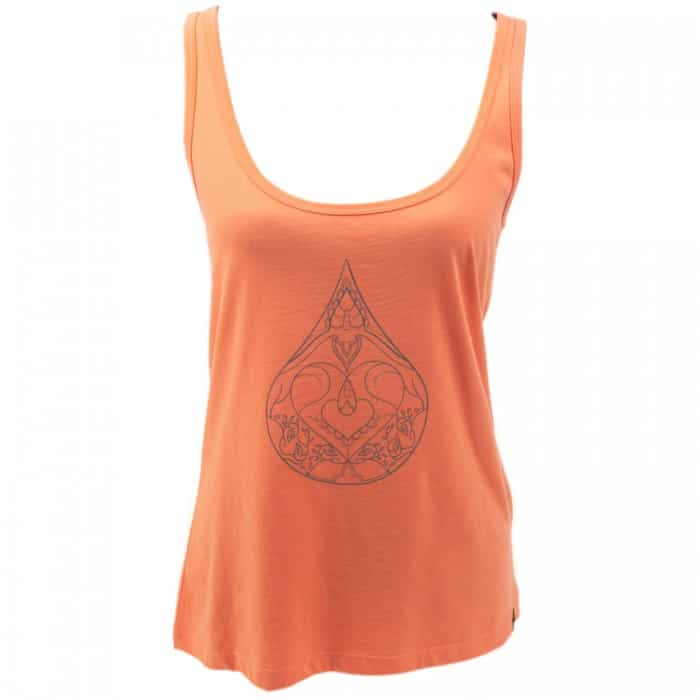 Yoga tanktop Eco Vegan - Drop of love - zalm