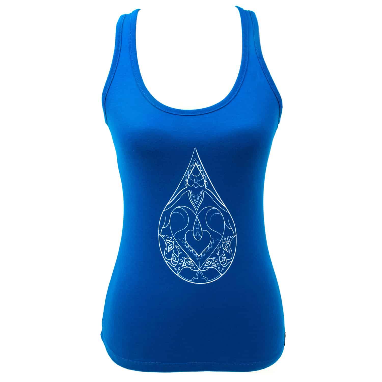 Yoga tanktop Eco Vegan - Drop of love - wit