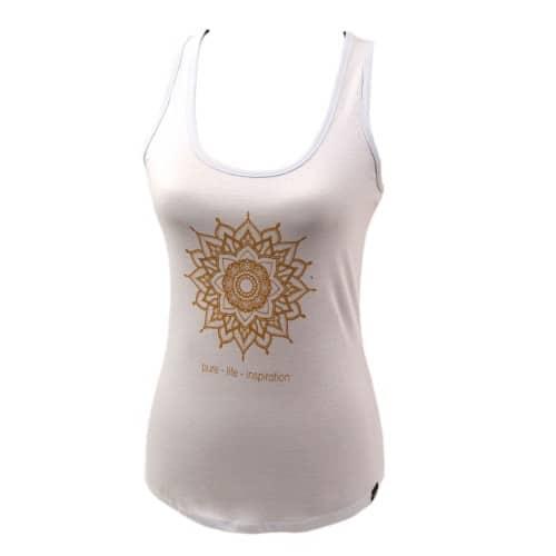 Yoga tanktop Eco Vegan - Golden mandala