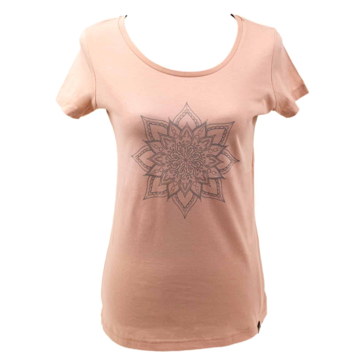 Yoga t-shirt Eco Vegan - Mandala Rose