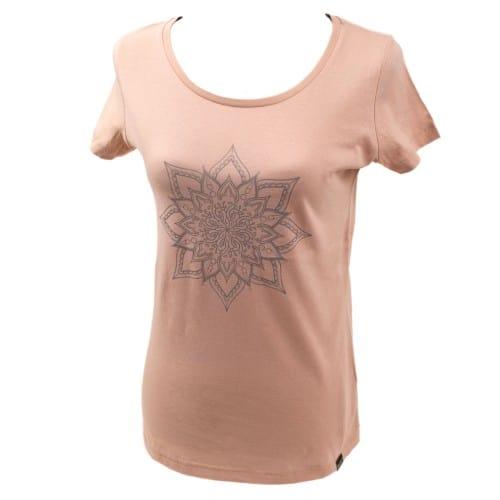 Yoga t-shirt Eco Vegan - Mandala Rose