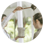 Balinese water blessing and Heart of Yoga retreat Holland