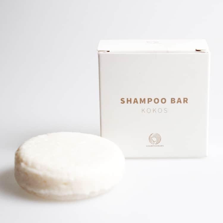 vegan shampoo bar kokos plasticvrij verpakking